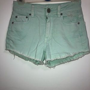 Mint colored shorts